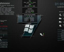 Premier Black Windows 7 Rainmeter Skin