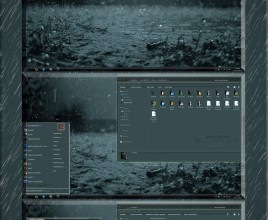 Rainy day theme for windows 7