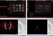 Red alienware 2.0 X86 theme for windows 7