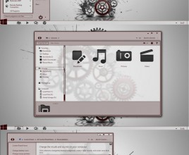 Red and gray theme for windows 7