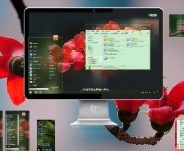 Red plum 2 theme for windows 7