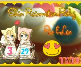 Rin Y Len Reloj Windows 7 Rainmeter Skin