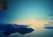 Rising Reflection Interface Plateaus Rainmeter Skin For Windows 7