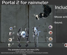 Robots Portal Windows 7 Rainmeter Theme