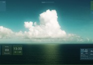 Sea Clouds Windows 7 Rainmeter Skin