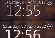 Segoe Clock Rainmeter Skin