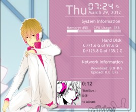 Shizuo Rainmeter Skin For Windows 7