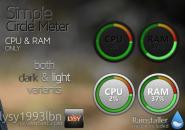 Simple Circle Meter Variants Windows 7 Rainmeter Skin