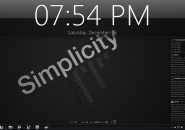 Simplicity version 1.5 theme for windows 7