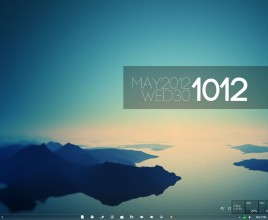 Simplistic Mountain Rainmeter Theme