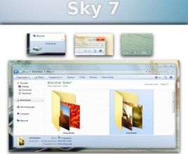 Sky alpha theme for windows 7