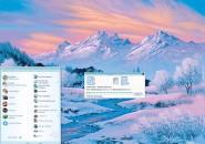 Snowing Ice Valleys Windows Blind Theme