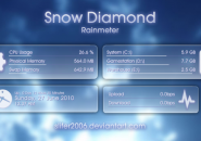 Snowy Diamond Rainmeter Theme For Windows 7