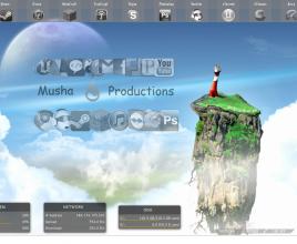 Social Apps Rainmeter Skin for Windows 7