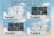 Solid Bricks Glassy Windows 7 Rainmeter Skin