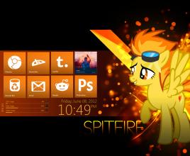 Spitfire Embers Rainmeter Theme Foe Windows 7