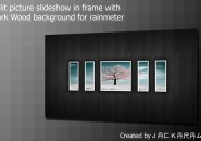 Split Picture Frame Slide Windows 7 Rainmeter Theme