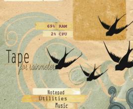Tape Birds Rainmeter Skin