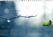 Tears Of Spring Windows 7 Rainmeter Skin