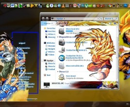 Tema de dragon ball theme for windows 7