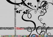 Timeshift Calendar Windows 7 Rainmeter Skin