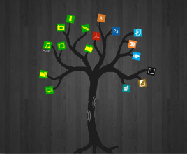 Trees and Branches Rainmeter Theme For Windows 7
