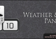 Weather N Clock Panel Rainmeter Skin