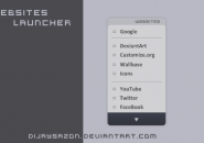 Websites Launcher Windows 7 Rainmeter Theme