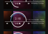 Winamped Circles Rainmeter Theme