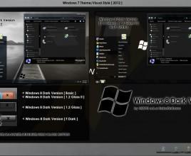 Windows 8 dark version for windows 7