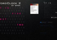 Word Clock Rainmeter Skin