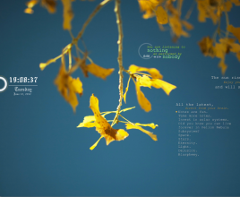 Yellow Nature Windows 7 Rainmeter Skin