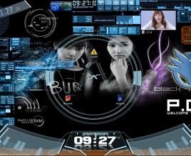 Yulsica Black Windows 7 Rainmeter Theme