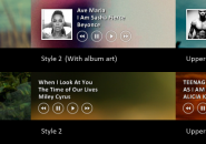 iTunes Big Player Rainmeter Theme For Windows 7