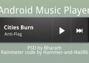 Android Music Player Rainmeter Skins