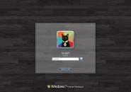 Black Wood Logon Screen For Windows 7