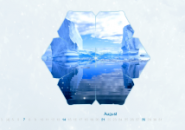 Calendar Winter Screensaver
