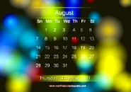 Colour Background Calendar Screensaver