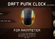 Daft Punk Clock Rainmeter Skins