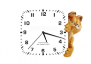 Garfield Hours White Screensaver