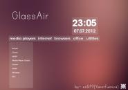 Glass Air Rainmeter Skin