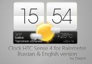 HTC Sense 4 Clock Rainmeter Skins