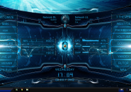 HUD Blue Ultimate Rainmeter Skin