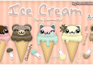 Ice-Cream Rainmeter Skins