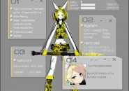 Kagamine Rin Rainmeter Skins
