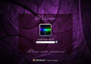 Purple Swirls Logon Screen For Windows 7