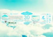 SkySlate Rainmeter Skins