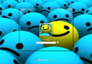 Smiley Windows 7 Logon Screen