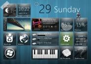 Windows 8 start panel Rainmeter Skins