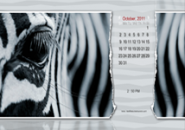 Zebra Calendar Screensaver